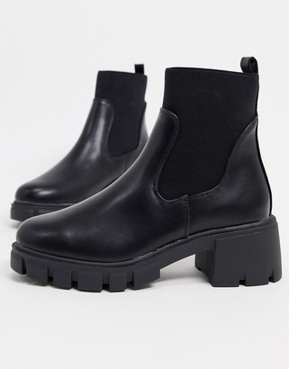 ASOS DESIGN Robbie chunky chelsea boots in black