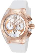 Technomarine Tm-115066 Women's Cruise Dream Chrono Silicone And Dial Rose-Tone Case Watch