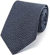 Indigo Navy Cotton Luxury Italian Diamond Tie