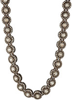 Munnu Women's White Diamond Single Line Necklace