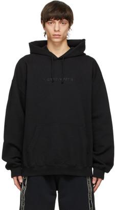 Vetements Black Haute Couture Logo Hoodie
