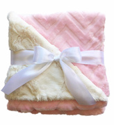 Sweet Seraphina Pink Minky Blanket