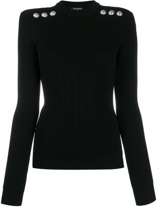 Balmain buttoned knitted jumper