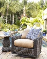 Horchow Madison Dark Outdoor Swivel Glider Lounge Chair