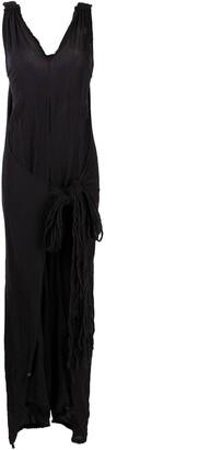 CARAVANA Tie-Front Cotton Jumpsuit
