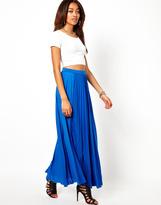 River Island Pleated Maxi Skirt