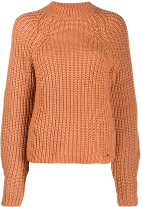 Victoria Victoria Beckham Embroidered Logo Crocheted Jumper