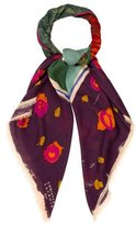 Christian Lacroix Printed Raw-Edge Scarf