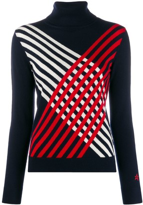 Perfect Moment Criss-Cross Striped Jumper