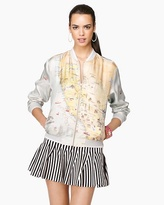 Juicy Couture Silk California Print Track Jacket