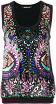 Roberto Cavalli knit paisley top - women - Silk/Polyester/Viscose/Virgin Wool - 42