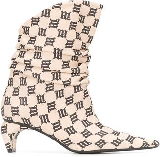 Misbhv Ibiza monogram-print ankle boots