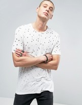 AllSaints T-Shirt With All Over Feather Print