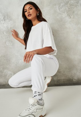 Missguided Tall White Basic Joggers
