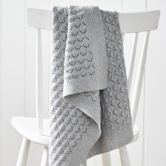 The White Company Heirloom Grey Baby Blanket, Grey, One Size