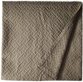 Natural Comfort Matelasse Blanket Coverlet, Maze Pattern, Queen, Washed Taupe