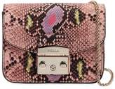Furla Mini Metropolis Snake Print Leather Bag