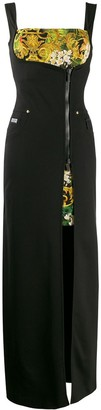 Versace baroque zip front maxi dress