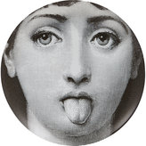 "Fornasetti Woman Sticking Tongue Out"" Plate"