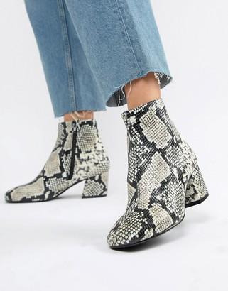 Aldo Piella Snake Print Boots-Multi