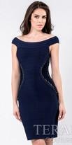 Terani Couture Corset Paneling Cocktail Dress