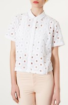 Circle Cutout Crop Shirt