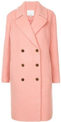 Tibi Luxe double breasted coat