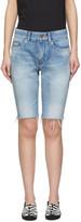 Saint Laurent Blue Denim Washed Bermuda Shorts