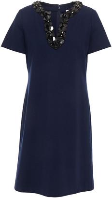 Tory Burch Ayla Embellished Ponte Mini Dress