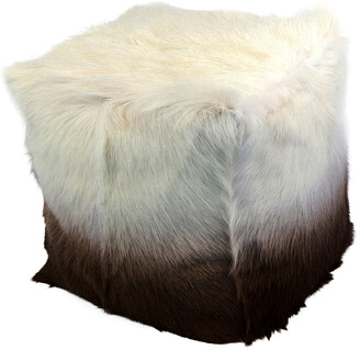 Moe's Home Collection Goat Fur Pouf Cappuccino Ombre