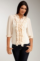 Apart Ruffle Front Blouse