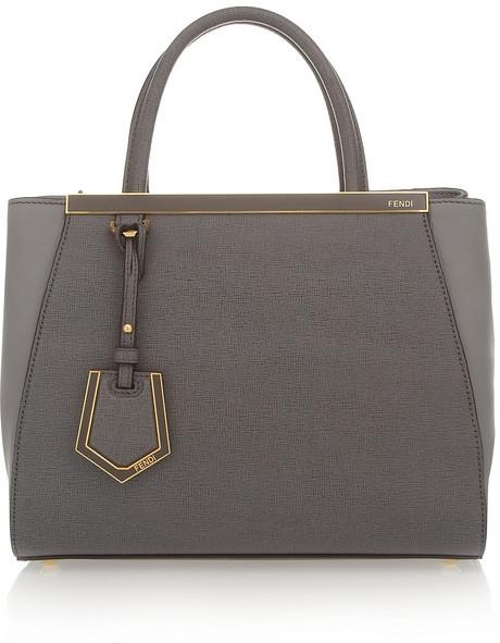Fendi 2Jours small textured-leather shopper