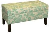 Skyline Furniture Canary Storage Ottoman Bench Light Blue