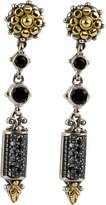 Konstantino Asteri Etched Black Diamond Dangle Earrings