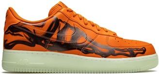 """Nike Air Force 1 Low """"Orange Skeleton"""" sneakers"""