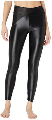 Koral Chase High-Rise Leggings (Black) Women's Casual Pants