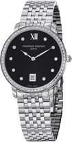 Frederique Constant Women's FC-220B4SD36B Slim Line Stainless Steel Bracelet Watch