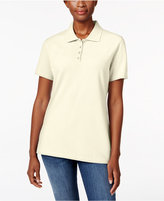 Karen Scott Short-Sleeve Polo Top, Created for Macy's