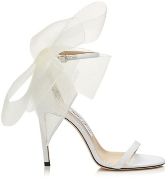 Jimmy Choo Aveline 100 Mesh Fascinator Sandals