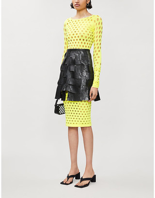 Selfridges Maisie Willen Perforated-pattern stretch-jersey dress