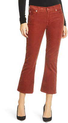 7 For All Mankind Crop Bootcut Corduroy Pants