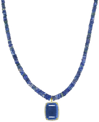 Meira T 14K 4.09 Ct. Tw. Diamond & Blue Sapphire Necklace