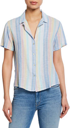 Rails Zuma Striped Button-Down Short Sleeve Shirt
