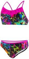 "Speedo Big Girls 2-Piece ""Neon Love"" Printed Sport Back Swimsuit"