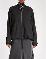 Ann Demeulemeester Oversized wool bomber jacket
