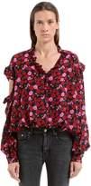 Magda Butrym Floral Printed Silk Crepe De Chine Shirt