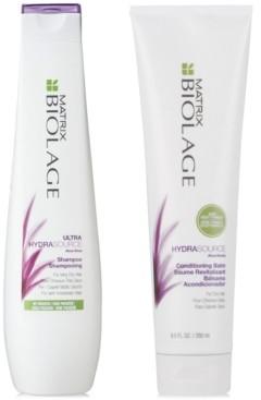 Matrix Biolage HydraSource Shampoo, 13.5-oz. & Conditioner, 9.5-oz. (Two Items), from Purebeauty Salon & Spa
