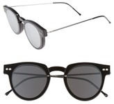Spitfire Women's Sharper Edge 52Mm Round Sunglasses - Black/ Black/ Silver Mirror
