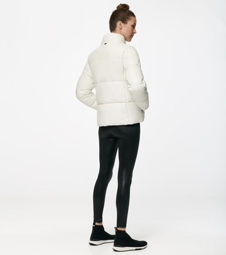 Mny Performance Alex Faux Leather Super Puffer Jacket