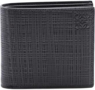 Loewe Black Bifold Wallet In Engraved Leather